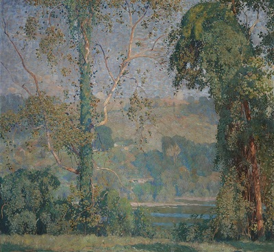 Vineclad Trees (1916) by Daniel Garber, Detroit Institute of Arts, Wikimedia Commons