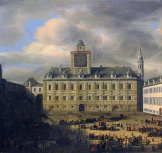 Court of the Hofburg, Vienna (1652) by Samuel van Hoogstraten, Kunsthistorisches Museum, Wikimedia Commons