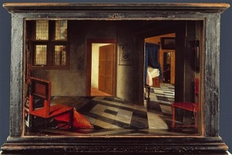 Perspective Box (c1655-1660) by Samuel van Hoogstraten, National Gallery of London, Wikimedia Commons