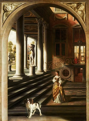 Perspective View with a Woman Reading a Letter (c1670) by Samuel van Hoogstraten, Royal Picture Gallery Mauritshuis, Wikimedia Commons