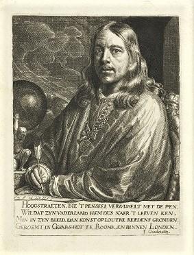 Self-Portait (1677-1678) by Samuel van Hoogstraten, Rijksmuseum