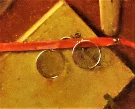 Trompe L'Oeil Still Life (close up pince nez; c1655) by Samuel van Hoogstraten, Photo by cjverb (2019) San Diego Museum of Art
